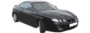 фар  ляв - HYUNDAI COUPE 99-01 - 195 лв.
